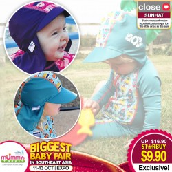 Close Parents Pop-in Peaked Sun Hat with UPF of 50+ (Asst Sizes & Designs)