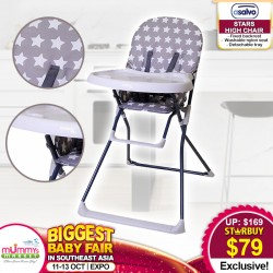 Asalvo STARS HIGHCHAIR (STARS GREY)