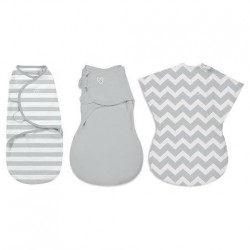 Summer Infant SwaddleMe Original Swaddle Blanket (3 pk) - Grey Chevron