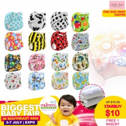 One Size Snap Cloth Diaper + Free 1 Insert