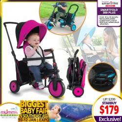 SmarTrike SmarTfold 300 Plus 6-in-1 Baby Folding Tricycle