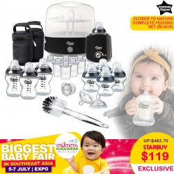 Tommee Tippee Closer to Nature Complete Feeding Set (BLACK / TEAL) 75 Percent OFF!!