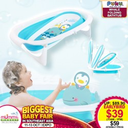 PUKU Whale Folding Bath Tub (*Additional $20 OFF for Early Bird only)