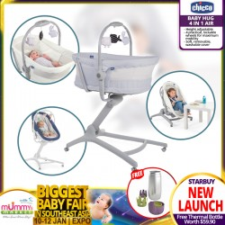 Chicco Baby Hug 4 in 1 Air (Bassinet/Highchair) + Thermal Bottle Holder worth $59.90