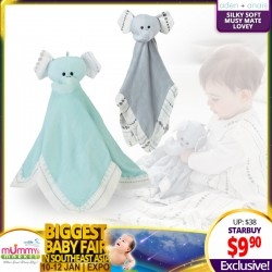 Aden + Anais Moonlight Silky Soft Musy Mate Lovey - ELEPHANT
