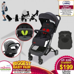Asalvo FLIGHT Stroller + Free 6 Months Warranty