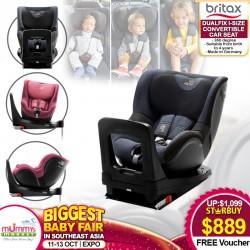 BRITAX Dualfix i-Size Convertible Carseat (360 degree) + Free $40 Infantree Voucher