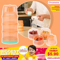 Clevamama Stackable Baby Formula and Food Travel Container