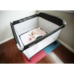 JOOVY TWIN ROOM2 (BLACK) PLAYPEN + FREE FITTED SHEET