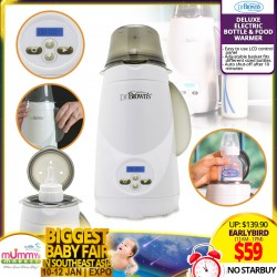 Dr Brown Deluxe Electric Bottle And Food Warmer *EARLY BIRD Special!!