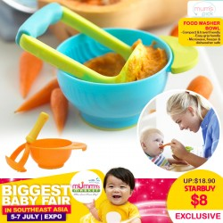 Compact & Easy Travel Food Masher Bowl