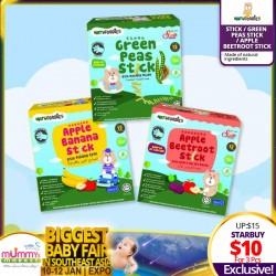 NATUFOODIES Fruit Flavors Stick (Toddler food) - Bundle of 3