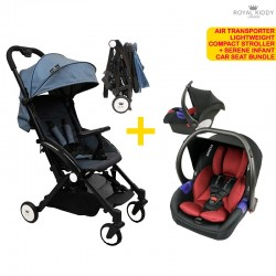 Royal Kiddy London Travel System Bundle - RK Air Transporter Lightweight Compact Stroller + Serene Infant Carseat FREE Gifts (WORTH $99!!)
