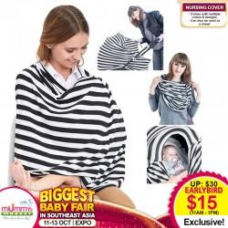 Multipurpose Breastfeeding Nursing Cover Assorted Colour/Design