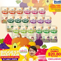 Maeil YummyYummy Organic Juice (Bundle of 4) + Free Juice Holder