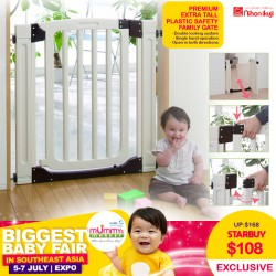 Nihon Ikuji Premium EXTRA TALL Plastic Safety Family Gate