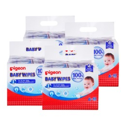Pigeon Baby Wipes 80sx24packs (Carton Deal)