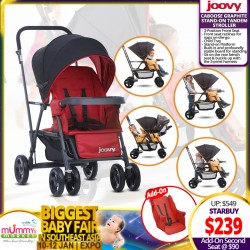 Joovy Caboose Graphite Stand On Tandem Stroller (Additional Discount with Save More Coupon)