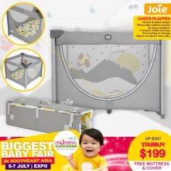 Joie Cheer Playpen + Free 2 Inch Foam Mattress & Cover worth $58