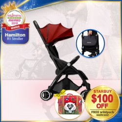 (2019 AWARD WINNER) Hamilton R1 Stroller FREE Okiedog Wildpack Suitcase (WORTH $59.90)