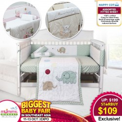 Happy Cot Bedding Set (UP TO 45 PERCENT OFF)