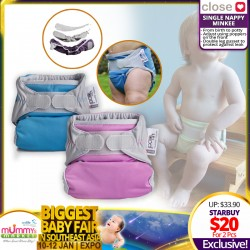 Close Parents Single Nappy Minkee Reusable Cloth Diaper Bundle of 2 SUPER SAVE DEAL!!