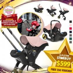 (2019 AWARD WINNER ) DOONA 4in1 Carseat Stroller + Vouchers + Stroller Accessories!!