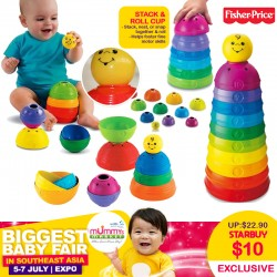 Fisher Price STACK N ROLL CUP Toy