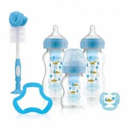 Dr Brown PP Options+ WIDE-Neck Bottle Gift Set (PINK/BLUE)
