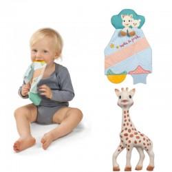 Sophie La Girafe Teething Comforter + The Original Teether Bundle