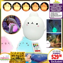Babytoon Motion Detect / Remote Control Led Multi-Colour Night Light