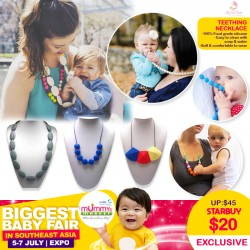 Jelly Sili Beads Teething Necklace