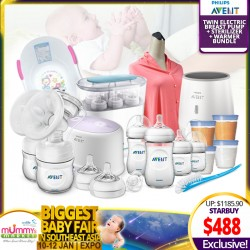 Philips Avent TWIN ELECTRIC BreastPump SUPER SUPER GOOD DEAL (FREE Sterilizer + Warmer and Many More!!)