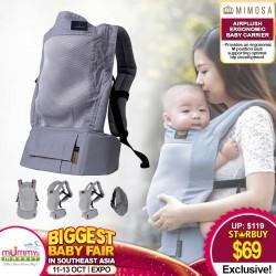 Mimosa Airplush Ergonmic Baby Carrier (URBAN GREY MESH)