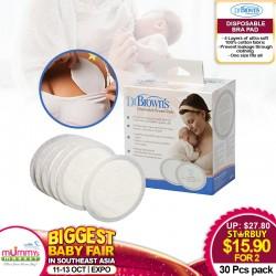 Dr Brown Disposable Bra Pad (30pcs) Bundle of 2 Boxes