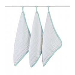 Aden + Anais Washcloths 3pk La Mer (SEA GREEN)  CLEARANCE for $2 ONLY!!