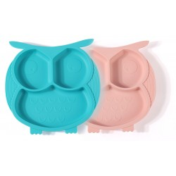 Emperor Baby Silicone Suction Plate - Owl Design
