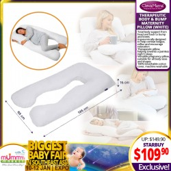 NEW LAUNCH!! Clevamama Therapeutic Body & Bump Maternity Pillow (WHITE)