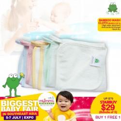 Crok Crok Frok Bamboo Wash Cloth (Each Pack 5cs) Buy 1 Free 1