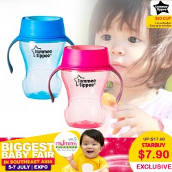 Tommee Tippee 360 Mealtime Trainer Cup (Pink/ Blue) For $7.90 ONLY!!
