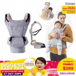 SINBII ALL-IN-1 Soft Structured Convertible Baby Carrier