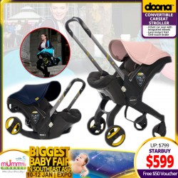 DOONA 4in1 Carseat Stroller + Vouchers + Stroller Accessories!!
