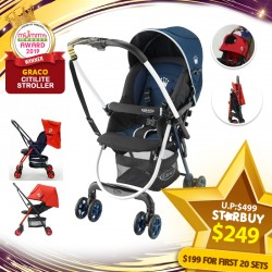 (2019 AWARD WINNER) Graco Citilite R Stroller (Navy) - (Additional $50 OFF For EARLY BIRD SPECIAL*)