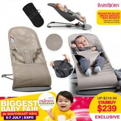 Baby Bjorn Bouncer Bliss Mesh (Greige) + Bouncer Bag