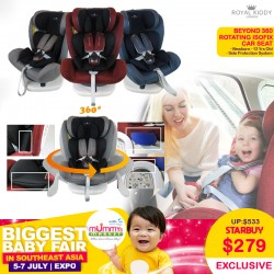 Royal Kiddy London RK Beyond 360 Rotating ISOFIX Carseat