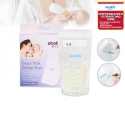 Ebelbo Disposable Breastmilk Storage Bag 30ct Bundle (2x250ml + 2x150ml) + FREE Direct Pumping Breastmilk Bag Connector (WORTH $15)