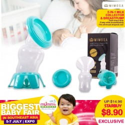 Mimosa 2-In-1 Milk Collector & Manual BreastPump