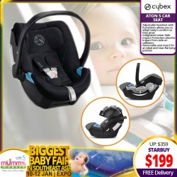 Cybex Aton 5 Carseat (Asst Colors Available) FREE Delivery!!