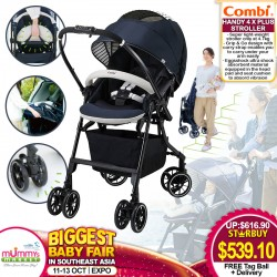 Combi Mechacal Handy 4X Plus Stroller + FREE Tag Bag Ball