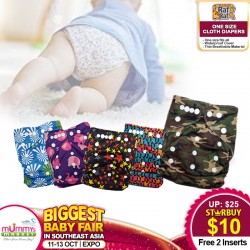 Baby Dash By Raf Raf One Size Cloth Diapers (2 inserts)